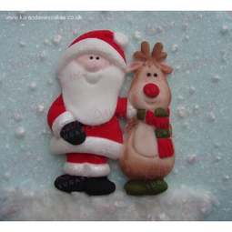 View the SANTA & RUDOLPH silicone icing mould online at Cake Stuff