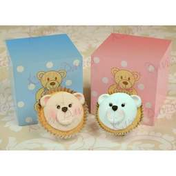 View the TEDDY FACE cupcake top silicone icing mould online at Cake Stuff