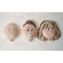 View the Medium 5.5cm Face / Head silicone icing mould online at Cake Stuff