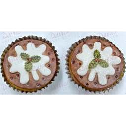 View the Christmas Pudding cupcake top silicone icing mould online at Cake Stuff