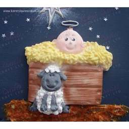 View the AWAY IN A MANGER silicone icing mould online at Cake Stuff