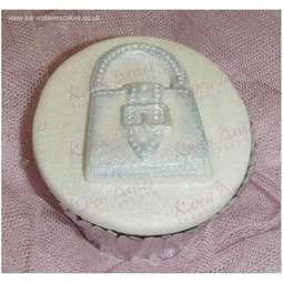 View the Handbag cupcake top silicone icing mould online at Cake Stuff
