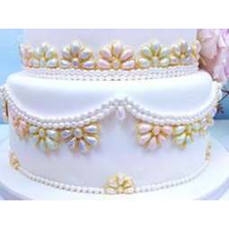 View the Art Deco Jewels & Pearls silicone icing sugarcraft mould online at Cake Stuff
