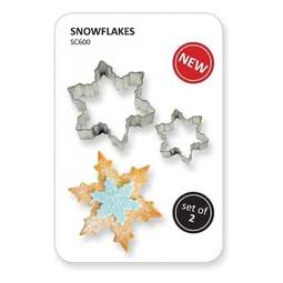 View the 2 pc Christmas Snowflake icing / cookie cutter set online at Cake Stuff