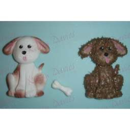 View the DOG / Puppy silicone icing mould online at Cake Stuff