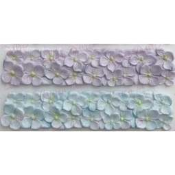 View the Hydrangea Border silicone icing mould online at Cake Stuff