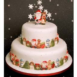 View the Christmas Border silicone icing mould online at Cake Stuff