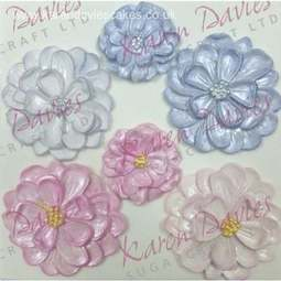 View the DAHLIA Flowers silicone icing mould online at Cake Stuff