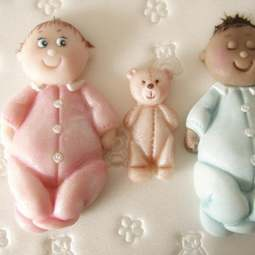 View the Baby & Teddy silicone icing mould set online at Cake Stuff