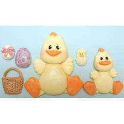 View the Easter Chicks silicone icing mould online at Cake Stuff