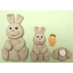 View the Easter Bunnies silicone icing mould online at Cake Stuff
