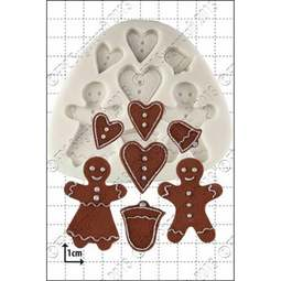 View the Gingerbread People silicone icing mould set online at Cake Stuff