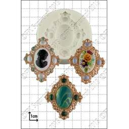 View the Large Brooch silicone icing mould online at Cake Stuff