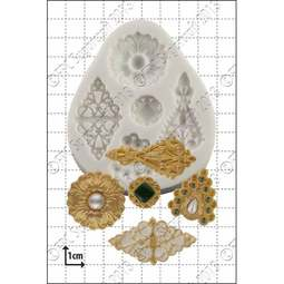 View the Filigree Brooches silicone icing mould set online at Cake Stuff