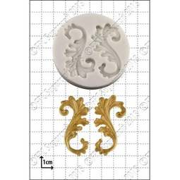 View the Curlicues silicone icing mould online at Cake Stuff