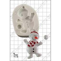 View the Dancing Snowman silicone icing mould online at Cake Stuff