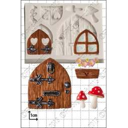 View the Fairy Door & Windows silicone icing mould set online at Cake Stuff