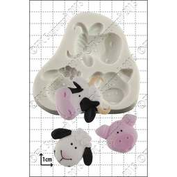 View the Farm Animals silicone icing mould set online at Cake Stuff