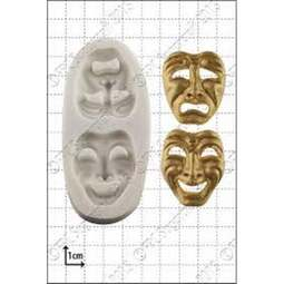 View the Comedy & Tragedy Masks silicone icing mould online at Cake Stuff