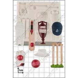 View the 8 pc Cricket silicone icing mould set online at Cake Stuff