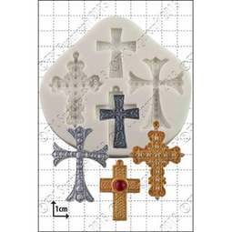 View the Crosses silicone icing mould set online at Cake Stuff
