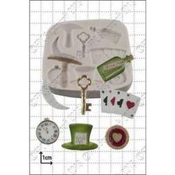 View the Alice in Wonderland silicone icing mould set online at Cake Stuff