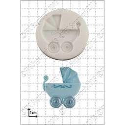 View the Baby Carriage / Pram silicone icing mould online at Cake Stuff