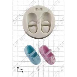 View the Baby Shoes & Bow silicone icing mould online at Cake Stuff