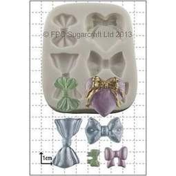 View the 6 Bows silicone icing mould online at Cake Stuff