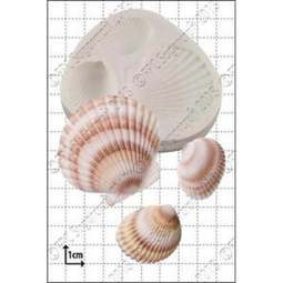 View the 3 Large Shells silicone icing mould online at Cake Stuff