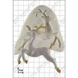 View the Leaping Deer silicone icing mould online at Cake Stuff