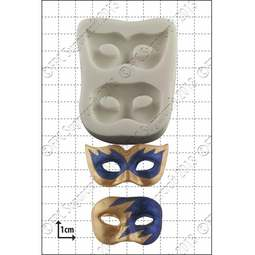 View the Masquerade Masks silicone icing mould online at Cake Stuff