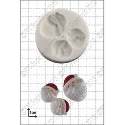 View the Mini Santa Faces silicone icing mould online at Cake Stuff