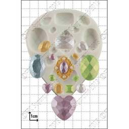 View the 15 pc Multi Gem silicone icing mould set online at Cake Stuff