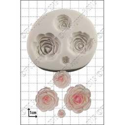 View the Multi Rose silicone icing mould set online at Cake Stuff