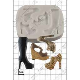 View the Multi Shoe silicone icing mould set online at Cake Stuff