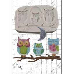 View the Owl Family silicone icing mould set online at Cake Stuff