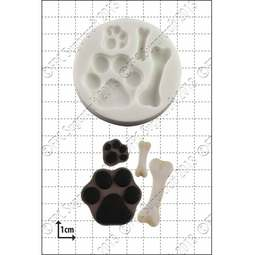 View the Paws & Bones silicone icing mould online at Cake Stuff