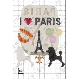 View the PARIS 8 pc silicone icing mould set online at Cake Stuff