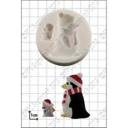 View the Penguins silicone icing mould online at Cake Stuff