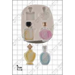 View the 4 Perfume Bottles silicone icing mould online at Cake Stuff