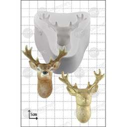 View the Stag's Head silicone icing mould online at Cake Stuff