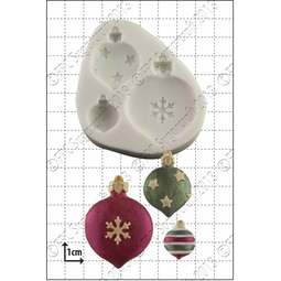 View the Xmas Baubles silicone icing mould online at Cake Stuff