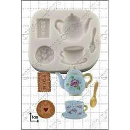View the Tea & Biscuits silicone icing mould set online at Cake Stuff