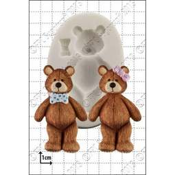 View the 7cm Teddy silicone icing mould online at Cake Stuff