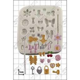 View the 23 pc Tiny Decorations silicone icing mould set online at Cake Stuff