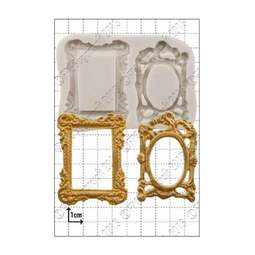 View the Picture Frames silicone icing mould online at Cake Stuff