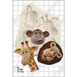 View the Safari Animals silicone icing mould set online at Cake Stuff