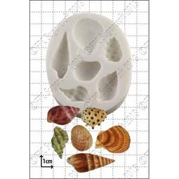 View the 6 Sea Shells silicone icing mould online at Cake Stuff