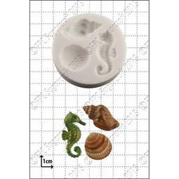 View the Seahorse & Shells silicone icing mould online at Cake Stuff